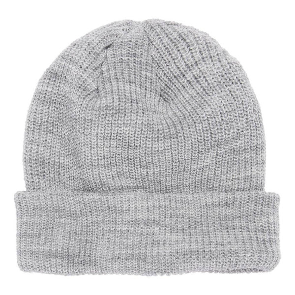 blank-1545k-ribbed-cuffed-knit-beanie-winter-cap-light-grey-front