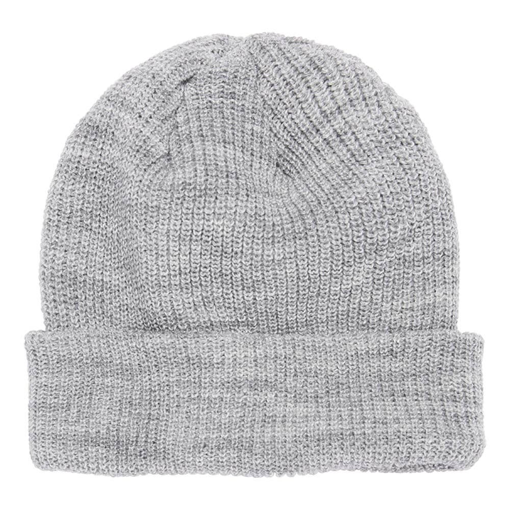 The Heather Grey 1545K is a low profile ribbed cuffed knit beanie. This winter hat is perfect for cold weather